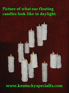 3 Floating Candle Illusion Great Hall Harry Potter Prop Replica Magic Halloween