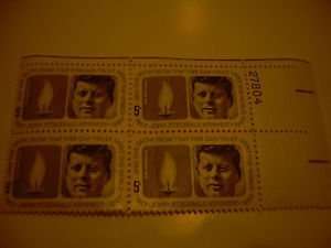 Estate Stamp Collection Kennedy Buffalo 4 Piece Sheet Lot