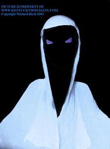 Pure White Blacklight Animated Flying Crank Ghost Prop Halloween Decoration NEW