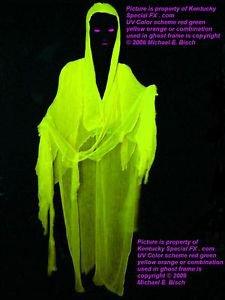 Life Size Halloween Hanging Crank Ghost Prop Decoration Blacklight Reactive