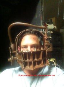 Saw Movie Prop Replica Amanda Reverse Beartrap Bear Trap Mask Cosplay Halloween