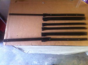 """New 3 Sets of Gloss black 400mm 16"""" to 28"""" extension drawer cabinet slides"""