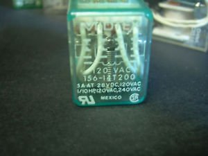 156-14T200 Electromechanical Relay 120 VAC 240 VAC 4PDT 5A COIL