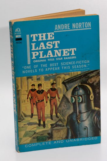 Ace Sci Fi Novel #F-366 The Last Planet by Andre Norton