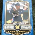 Alcides Escobar 2009 Upper Deck Serial Number Baseball Card #114 Rookie RC Milwaukee Brewers