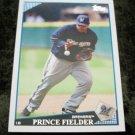 Prince Fielder Brewers 2009 Topps Baseball Card #480