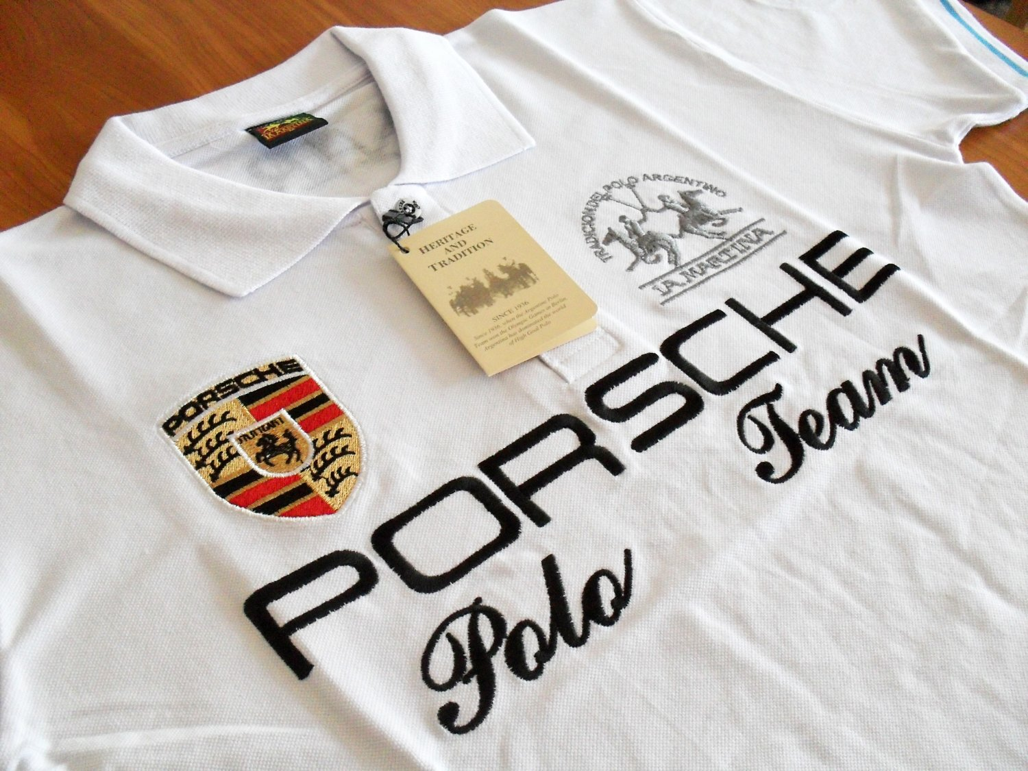 la martina argentina porsche team mens polo shirt. Black Bedroom Furniture Sets. Home Design Ideas