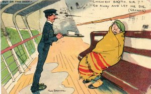 Tom Browne Davidson 2600-2 Postcard Liverpool to Hungary 1906