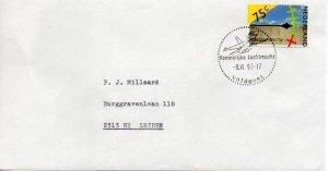 Netherlands Veldpost Dutch Air Force F-16 Postmark Scott #753 to Leiden 1990