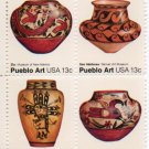 UNITED STATES Scott #1706-1709 13-c Pueblo Art Block of Four 1977 MNH