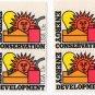 UNITED STATES Scott 1723-1724 Two Blocks of Four/Plate #/13-c Energy Conservation/Development 1977