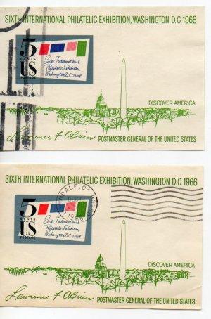 USA Scott #1311 6th Int Philatelic Exhibition Used Lot of 2 LAWNDALE, CA Cancel Postmark