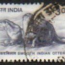 INDIA Smooth Indian Otter 3r Scott #1824 Issued 2000