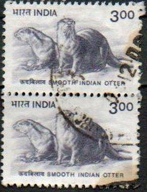 INDIA Smooth Indian Otter 3r Pair Scott #1824 2000