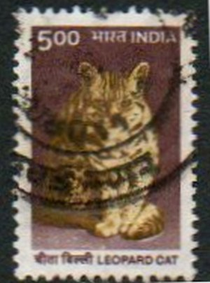 INDIA 5r Leopard Cat Issue Scott #1825 Issued 2000