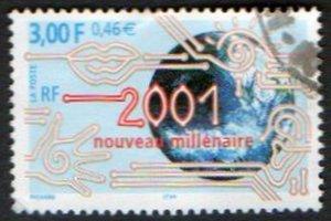FRANCE Scott #2788 New Millennium 3,00fr/0,46E Issued 2000
