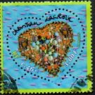 France Scott #2797 3,00fr/0,46E Christian Lacroix Valentine's Day Heart Design Issued 2001