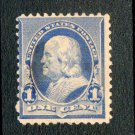 United States Scott #219 Benjamin Franklin Dull Blue 1890 Used