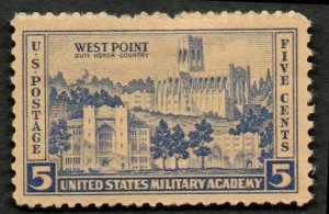 United States Scott #789 5-c Military Academy at West Point 1937 MH