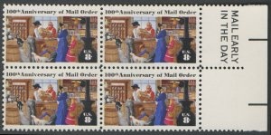 "United States Scott #1468 100th Anniversary of Mail Order ""Mail Early"" Block of 4 1972  MNH"