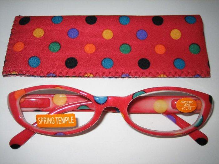 High Quality Reading Glasses 8308-5022 Polka Dot +1.75