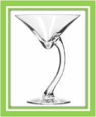Sexy Swank Swerve Martini Glass