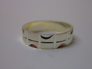 925 Silver Band Size US6