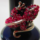 Lovely Lizard Rhinestone Ring US 8