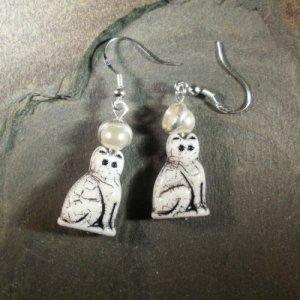 Holy Cat! Saint Tabby Cat Earrings - We Do No Wrong!
