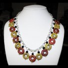 Marisa - Beaded Ceramic and Onyx Necklace