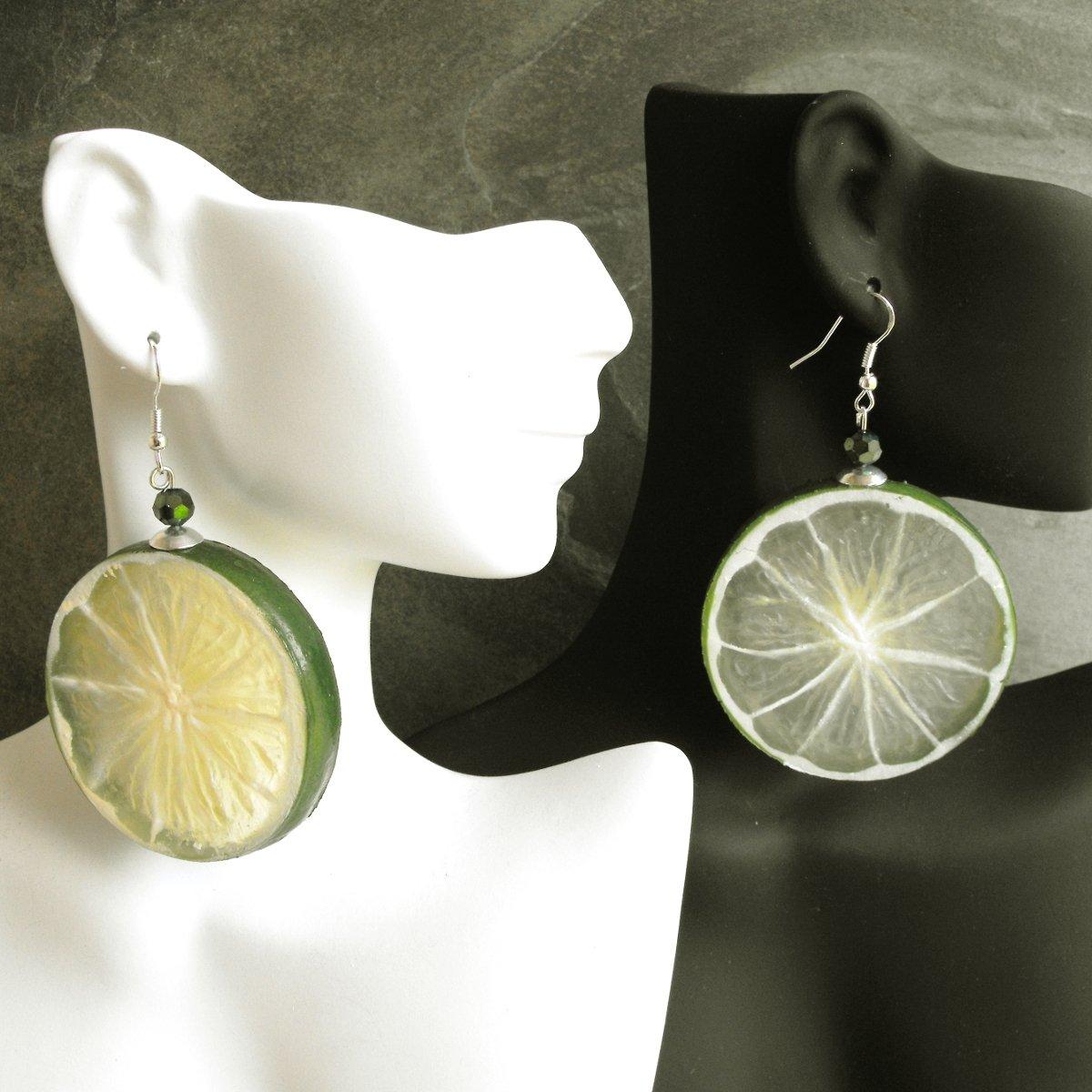 Juicy Lime Slice Earrings Happy Hour