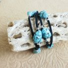Turquoise Nugget Leather Wrap Bracelet