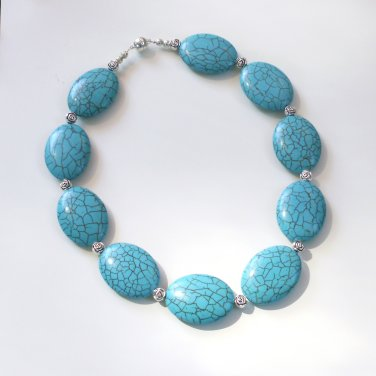 Samantha - Super Chunky Turquoise Necklace