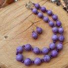 Liz - Chunky Purple Peace Jasper and Dragon Agate Necklace