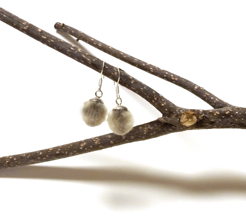 Botanical Pussy Willow Catkin Earrings