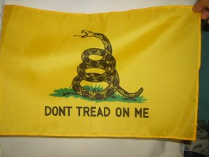 Don't Tread on Me Car Window Flag - yellow