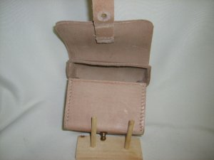 Leather Cylinder Box - Natural