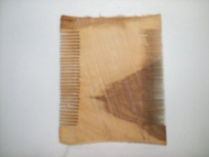2 Sided Wooden Comb