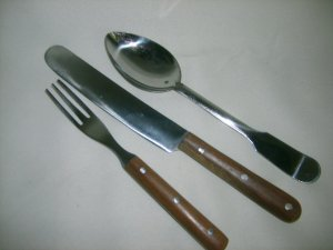 Wooden Knife, Fork & Spoon Set