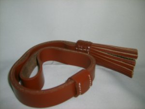 Leather Sword Knot - Brown