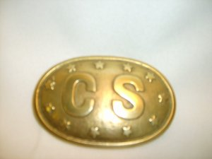 Buckle Oval 3 Prong- CS with Stars around the edge - excellent quality