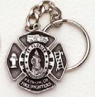 Fire Fighter Pewter Key Chain SK233
