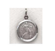 "Girls Soccer - Sterling Silver Sports Medal (20"" chain) SM0958SH"
