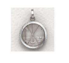 """Golf - Sterling Silver Sports Medal (20"""" chain) SM8595SH"""