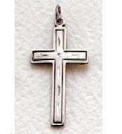 "Mens Sterling Silver Cross (24"" chain) SX0244SH"