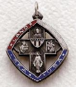 """Sterling Silver Four Way Military Medal (24"""" chain) SM0865SH"""