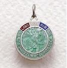 """Sterling Silver St. Christopher Military Medal (20"""" chain) SM8054SH"""