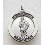"""St. Florian Sterling Silver Medal (24"""" chain) SM8527SH"""