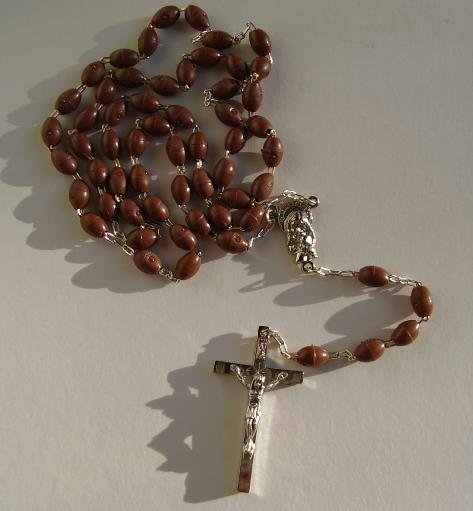 BROWN ROSARY 35217