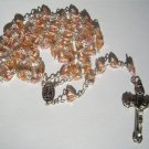 "PEACH/PINK ROSARY ""OUR LADY OF FATIMA"" RS115"